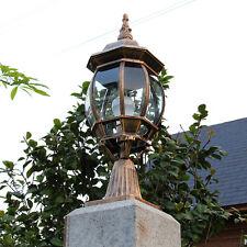 Vintage Pillar Light Garden Lamp Decor Outdoor Fence Street Waterproof Lighting