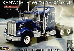 REVELL KENWORTH W900 AERODYNE TRUCK MODEL KIT 1/25 HISTORIC SERIES BRAND NEW