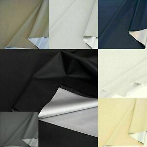 Verdunklungs-Stoff stark Blickdicht Sonnenschutz Vorhang Gardine Meterware