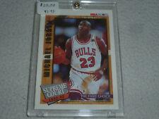 VINTAGE MICHAEL AIR JORDAN 1992-1993 NBA HOOPS SUPREME COURT INSERT CARD SC1 23