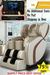 NEW Luxury Zero Gravity Massage Chair Foot Roller Sofa Shiatsu Airbag Heat Music