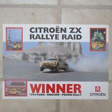 CITROEN ZX RALLYE RAID 1992 Paris-Moscow-Peking Rally Car Winner POSTER
