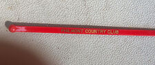 Vintage 1960's Swizzle stick. Philmont Country Club Philmont Pennsylvania