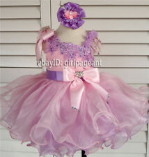 Infant/toddler/baby Crystals Floral Lace Pageant Dress 12~18 Months EB1179-4