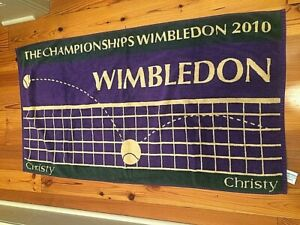 OFFICIAL WIMBLEDON CHAMPIONSHIP 2010 TOWEL NEW BY CHRISTY