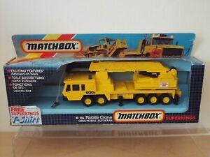 1985 Matchbox SuperKings K114 Mobile Crane, Taylor Woodrow, 99.9% MINT, Fair Box