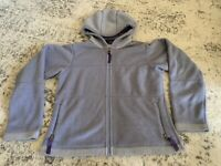 Patagonia Synchilla Lavender Contrast Full Zip Up Hooded Sweater Womens Size S