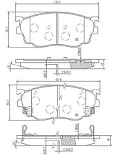 For Mazda  323 F/P 323 S 626 Premacy German Qality Front Axle Brake Pads Set