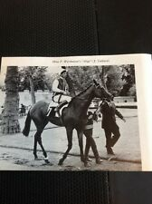 L1-3 Ephemera 1968 Small Picture Horse Racing Mme P Wertheimer Mige