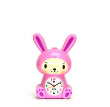 Adorable Baby in Bunny Robe Kids Musical Alarm Clock - Children Room Decoration