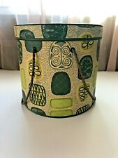 Vintage Henry A. Enrich Co. Model Home Quality Vinyl Quilted Hat/Storage Box