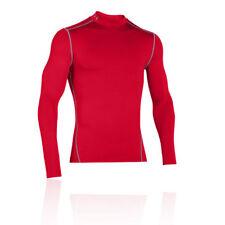 Maglie e top da uomo rossi marca Under armour per palestra , fitness , corsa e yoga compressione
