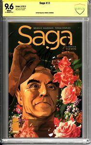 Saga #11 - CBCS Verified Signature 9.6 Signed by Brian K Vaughan Image Comics