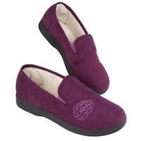 Ladies Fur Lined Mule Stars Slippers UK 6 EU 39 JS085 DD 07