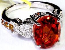 Sunfire Quartz, Santa Ana Madeira Citrine Ring (Size 8) Sterling Silver 6.1 cts