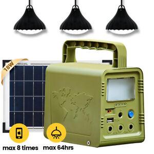 84Wh Portable Power Station Generator Lighting Kit Solar Panel & USB Camping