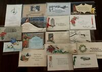 LOT of 17~VINTAGE ART DECO ~CHRISTMAS~GREETING CARDS~a616
