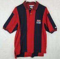 Vtg Champion Team USA Olympic Basketball Dream Team Polo Golf Shirt Sz L