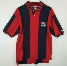 Vtg Champion Team USA Olympic Basketball Dream Team Polo Golf Shirt Sz L