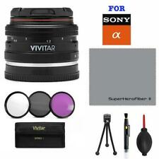 DEDICATED HD PORTRAIT 50MM F2 LENS + HD UV-CPL-FLD FILTERS FOR SONY ALPHA A6500