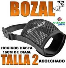 BOZAL TALLA 2 ACOLCHADO HOCICO HASTA 16CM REGULABLE VELCRO PERRO PEQUEÑO NYLON