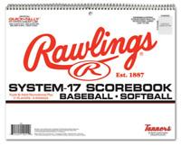 2 Rawlings System 17 Scorebook Baseball Softball | 19 Players 9 Innings