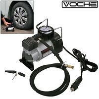 VOCHE® HEAVY DUTY PORTABLE 12V AIR COMPRESSOR 140PSI CAR VAN TYRE INFLATOR PUMP