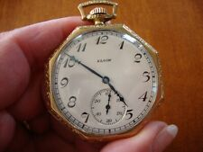 ANTIQUE ELGIN GOLD FILLED POCKET WATCH  RUNNING KEEPING TIME