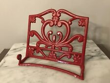 Cast Iron Red Cookbook Stand Enameled Book Holder