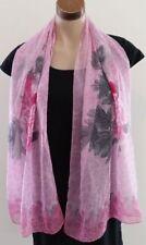 Rectangle Floral Chiffon Scarves & Wraps for Women