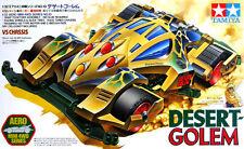 TAMIYA 1:32 MINI 4WD DESERT GOLEM VS CHASSIS AERO SERIES CON MOTORE  ART 19610