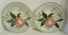 RED WING NORMANDY APPLE Blossom 2 DINNER PLATES Vintage Old Stamp
