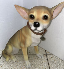More details for dog studios by leonardo large chihuahua tan figurine/ornament by lesser & pavey