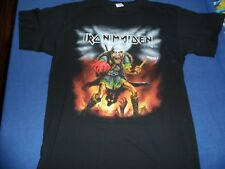 Iron Maiden 2016 Book of Souls DATED Nordic Event shirt size large MINT