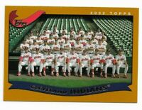 2002 Topps Cleveland Indians Team Set with C.C. Sabathia, Jim Thome, Gonzalez