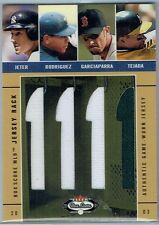 2003 FLEER BOX SCORE JERSEY RACK QUAD JETER/RODRIGUEZ/GARCIAPARRA/TEJADA #57/150