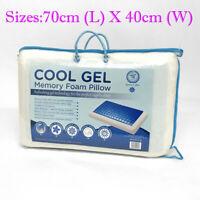 Memory Foam Pillows Cooling Gel Pillow Pad Cool Sleeping Orthopedic Packs 1 2 4