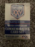 "Super Bowl XXV ""Limited Edition"" COMMEMORATIVE CARD SET, unopened"
