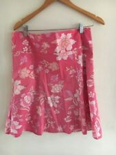 Skirt Size 14 Pink Floral Cotton Warehouse <T16101