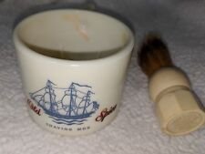 Vintage Old Spice Shaving Mug Made Rite Brush