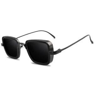 Vintage Sunglasses Steampunk Retro Square Eyewear Trendy Fashion Lens Glasses