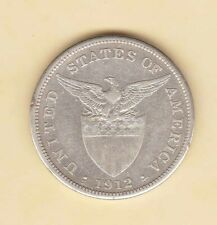 US Philippines 1912-S One Peso Silver Crown , 1 peso XF  KEY DATE
