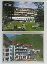 BAD RAGAZ Kanton St. Gallen Schweiz 2x Postkarte Grand Hotel Grandhotel Gebäude