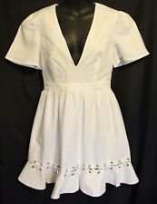 ISLA ~ Positano Linen Cotton Summer Dress w Eyelet Lacing Design NWT XS RRP $169