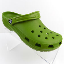 Crocs Unisex Mules Green Mens 8 Womens 10 Slip On Rubber Comfort Shoes NWT