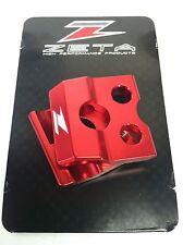 ZETA FRONT BRAKE LINE CLAMP RED CR125/250 CR250F CR450F YZ125/250 YZ250F YZ450F