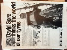 G1n ephemera 1970 advert david sore michelin tyres cycling