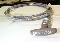"""ARENS 116-032-280 NEW ENGINE STOP PUSH PULL CONTROL CABLE 59-3/4"""" L 3"""" TRAVEL"""