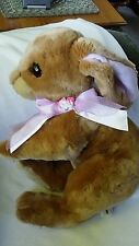 BUNNY RABBIT Plush Stuffed  Commonwealth Toy Novelty Co Easter very good cond.
