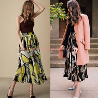 New Chiffon Long Skirt Elastic Waist Double Layer Pleated Retro Maxi Dress